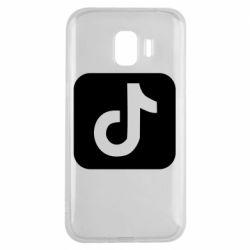 Чехол для Samsung J2 2018 Иконка тик ток