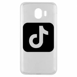 Чехол для Samsung J4 Иконка тик ток