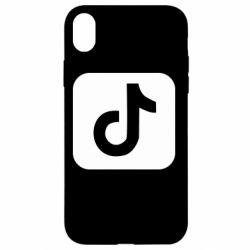 Чехол для iPhone XR Иконка тик ток
