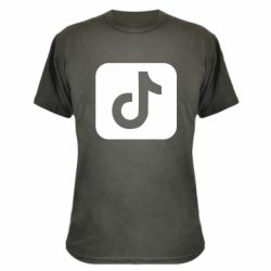 Камуфляжная футболка Иконка тик ток