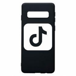 Чехол для Samsung S10 Иконка тик ток