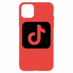Чехол для iPhone 11 Иконка тик ток