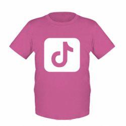 Детская футболка Иконка тик ток