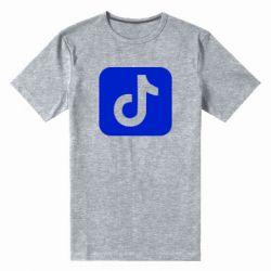 Мужская стрейчевая футболка Иконка тик ток