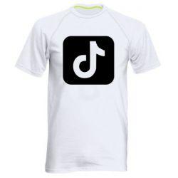 Мужская спортивная футболка Иконка тик ток