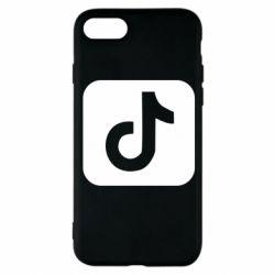 Чехол для iPhone 8 Иконка тик ток