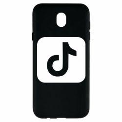 Чехол для Samsung J7 2017 Иконка тик ток