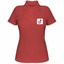 Женская футболка поло Иконка тик ток