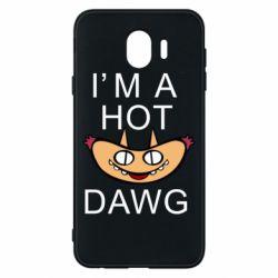 Чехол для Samsung J4 Im hot a dawg