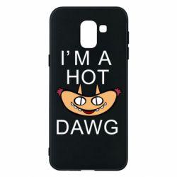 Чехол для Samsung J6 Im hot a dawg