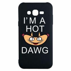 Чехол для Samsung J7 2015 Im hot a dawg