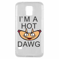 Чехол для Samsung S5 Im hot a dawg