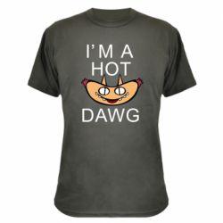 Камуфляжная футболка Im hot a dawg