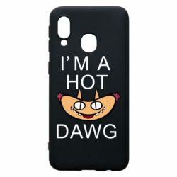 Чехол для Samsung A40 Im hot a dawg
