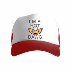 Детская кепка-тракер Im hot a dawg
