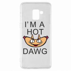 Чехол для Samsung A8+ 2018 Im hot a dawg