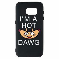 Чехол для Samsung S7 Im hot a dawg