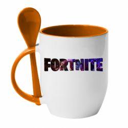 Кружка с керамической ложкой Image in Fortnite