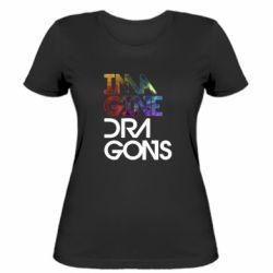 Жіноча футболка Imagine Dragons and space