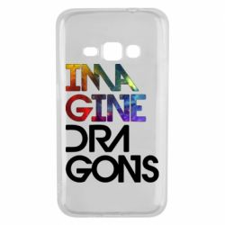 Чехол для Samsung J1 2016 Imagine Dragons and space