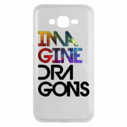 Чехол для Samsung J7 2015 Imagine Dragons and space