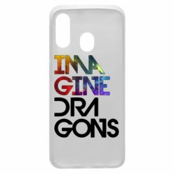 Чехол для Samsung A40 Imagine Dragons and space