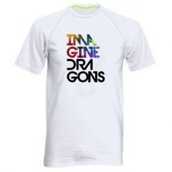Чоловіча спортивна футболка Imagine Dragons and space