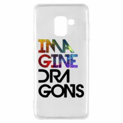 Чехол для Samsung A8 2018 Imagine Dragons and space