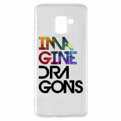 Чехол для Samsung A8+ 2018 Imagine Dragons and space