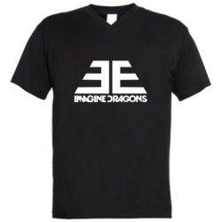 Мужская футболка  с V-образным вырезом Imagine Dragons Evolve simbol