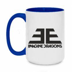 Кружка двухцветная 420ml Imagine Dragons Evolve simbol