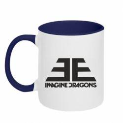 Кружка двухцветная 320ml Imagine Dragons Evolve simbol