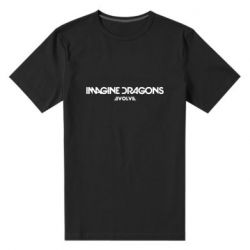 Мужская стрейчевая футболка Imagine dragons: Evolve text logo