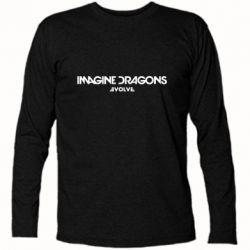 Футболка с длинным рукавом Imagine dragons: Evolve text logo