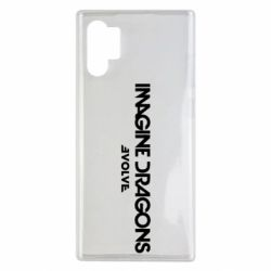 Чехол для Samsung Note 10 Plus Imagine dragons: Evolve text logo