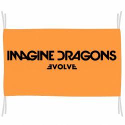 Флаг Imagine dragons: Evolve text logo