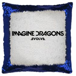 Подушка-хамелеон Imagine dragons: Evolve text logo