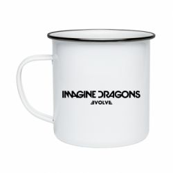 Кружка емальована Imagine dragons: Evolve text logo - FatLine
