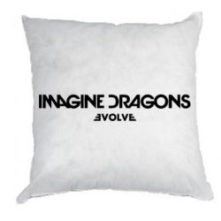 Подушка Imagine dragons: Evolve text logo - FatLine