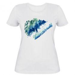 Женская футболка Imitation of a smear