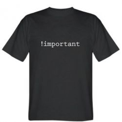 Мужская футболка !important - FatLine