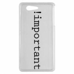 Чехол для Sony Xperia Z3 mini !important - FatLine