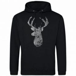 Чоловіча толстовка Imprint of human skin in the form of a deer