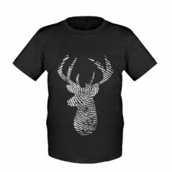 Дитяча футболка Imprint of human skin in the form of a deer