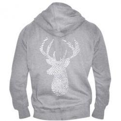 Чоловіча толстовка на блискавці Imprint of human skin in the form of a deer