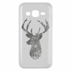 Чохол для Samsung J2 2015 Imprint of human skin in the form of a deer