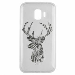 Чохол для Samsung J2 2018 Imprint of human skin in the form of a deer