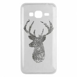 Чохол для Samsung J3 2016 Imprint of human skin in the form of a deer