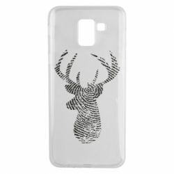Чохол для Samsung J6 Imprint of human skin in the form of a deer