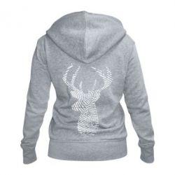 Жіноча толстовка на блискавці Imprint of human skin in the form of a deer